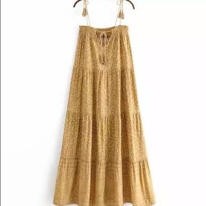 Boho Amalíe Maxi Shift Dress In Soft Dandelion